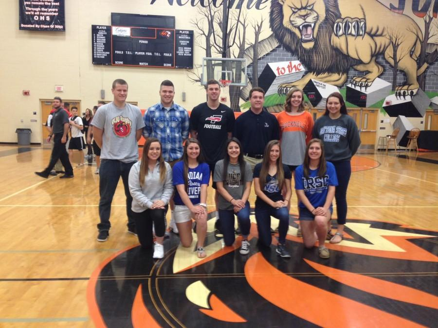 Several senior athletes sign with colleges on Feb. 3.