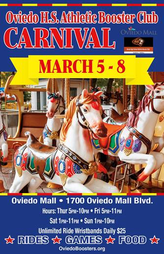 Athletic Booster Carnival returns to Oviedo this weekend