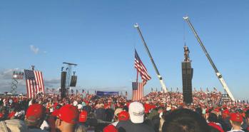 Biden, Trump descend on key battleground Florida